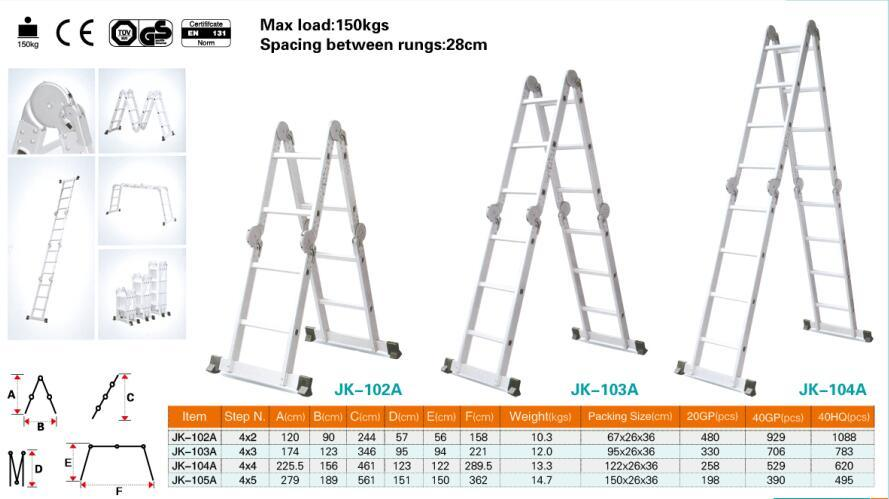Outstanding High Quality Aluminum Scaffolding Ladder With 2 6 Steps Alphanode Cool Chair Designs And Ideas Alphanodeonline